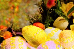 Easter is a big, important and bright holiday. The traditional Easter gift is a painted egg as a symbol of the birth of a new life. Easter egg — ritual royalty free stock photos