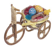 Easter bike with yellow eggs Royalty Free Stock Photography