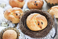 Easter bird bread, Easter chick bun Stock Image