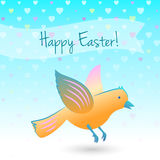 Easter bird illustration Royalty Free Stock Photography