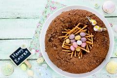 Easter bird nest cake Stock Photography
