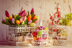 Easter birdcage Stock Photography