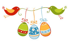 Easter birds and eggs Stock Image
