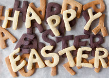 Easter Biscuit Background Stock Photography