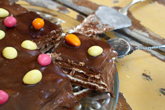Easter bisquit cake Stock Photo