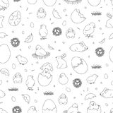 Easter black and white pattern royalty free illustration