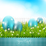 Easter blue background Royalty Free Stock Photography
