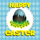 Easter in blue royalty free stock photos