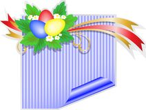 Easter blue sticker Royalty Free Stock Image