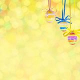Easter bokeh background. Easter festive bokeh background, place for holiday text Royalty Free Stock Image