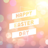Easter Bokeh Background Stock Photo