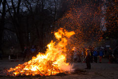 Easter bonfire in Helsinki, Finland Royalty Free Stock Image