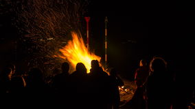 Easter bonfire, time lapse stock video footage