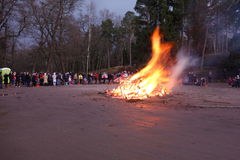 Easter bonfire Stock Photos