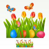 Easter border Stock Images