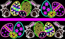 Easter border Royalty Free Stock Photos