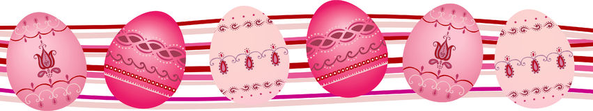 Easter border Stock Photos