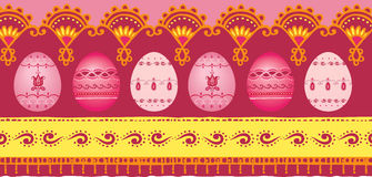 Easter border. Vector illustration of Easter border with eggs Stock Photos