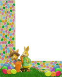 Easter Border with bunnies Royalty Free Stock Photography