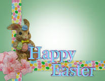 Easter Border with bunny royalty free stock photos
