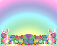 Easter Border Bunny eggs candy Royalty Free Stock Photos