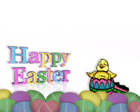 Easter Border chick in egg Stock Photos