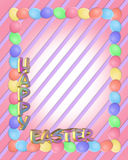 Easter Border eggs 3D text royalty free stock photography