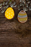 Easter border with eggs Stock Image