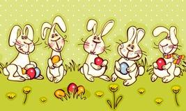 Easter border Stock Image