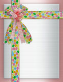 Easter Border ribbons and bows royalty free stock images