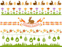 Easter border set Royalty Free Stock Images