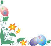 Easter Border With Flowers Royalty Free Stock Photo