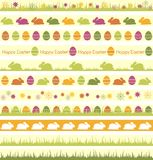 Easter borders. Seamless borders for Easter desiogn Stock Photography