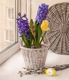 Easter bouquet on window Stock Photography