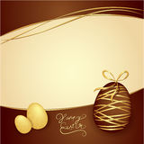 Easter box of chocolates. Vector thematic background. Chocolate Stock Image