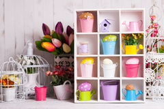 Easter box Stock Photos