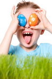 Easter boy funny portrait Royalty Free Stock Photo