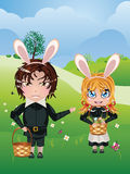 Easter Boy and Girl Stock Photography