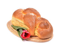 Easter braided bread, homemad Stock Photos
