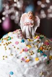 Easter bread and Angels. Celebratory Easter bread and Angels closeup Stock Images