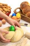Easter bread dough Royalty Free Stock Photos