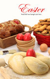 Easter bread dough stock images