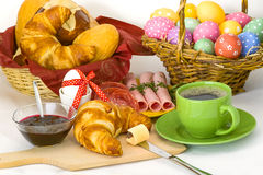 Easter breakfast Royalty Free Stock Photo