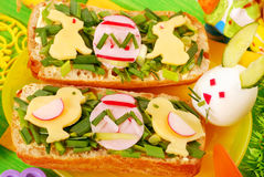 Easter breakfast for child Royalty Free Stock Image