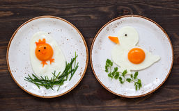 Easter breakfast for kids Stock Images