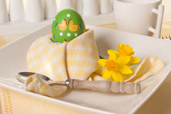 Easter breakfast napkins Royalty Free Stock Photography