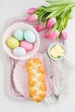 Easter breakfast table Royalty Free Stock Image