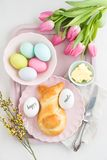 Easter breakfast table Stock Images