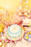 Easter brunch. Dessert table set with cake and cupcakes for Easter brunch Royalty Free Stock Photos