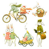 Easter  bunnies. Royalty Free Stock Photos